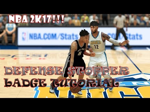 NBA 2k17 how to get defense stopper easy throwing lob pass consistent