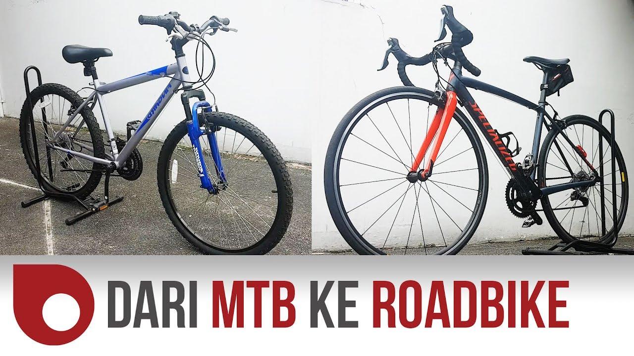 Beda Speed Mtb Vs Road Bike Youtube