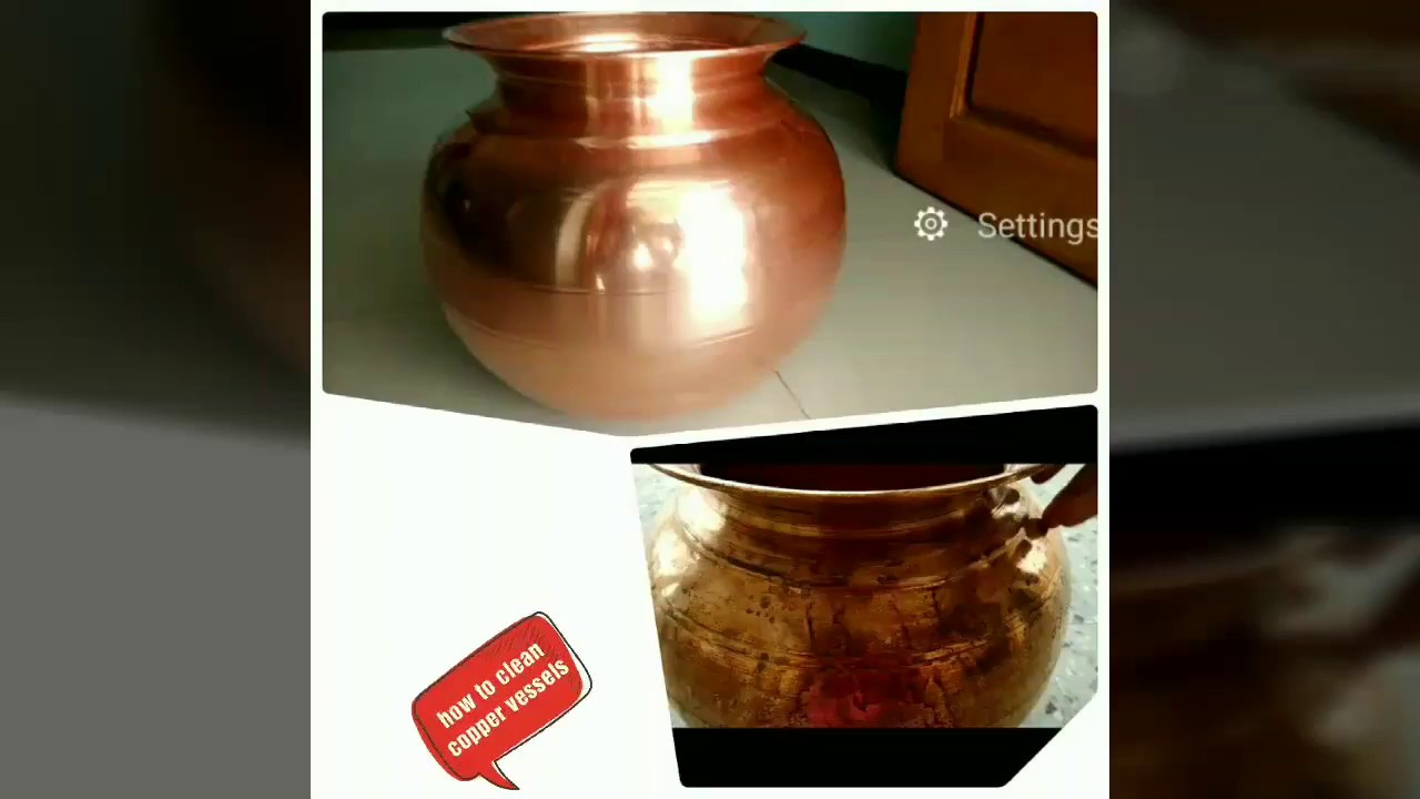 how to clean copper vessels at home how to clean sembu vessels in tamil youtube. Black Bedroom Furniture Sets. Home Design Ideas