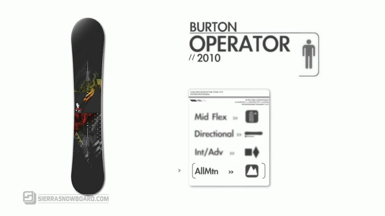 d73e0bebc 2010 Burton Operator Snowboard Review - YouTube