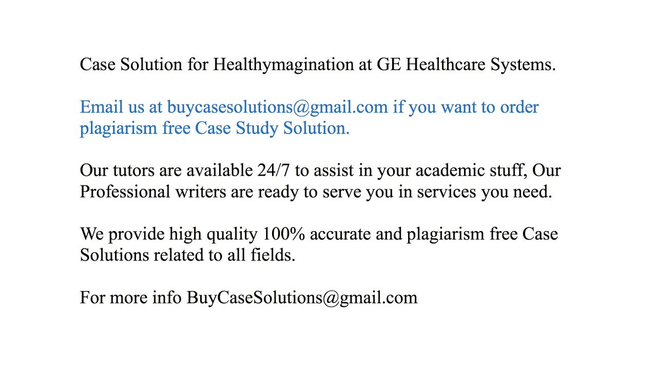 ge healthymagination case study analysis