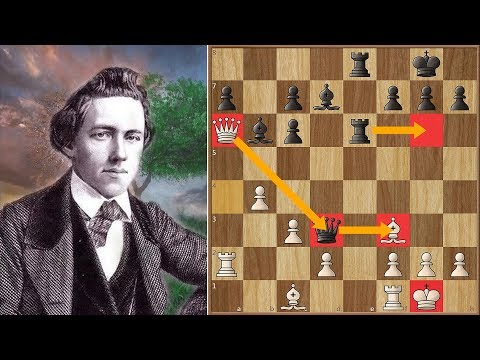 Morphy Misses Mate in 5 After A Queen Sac - Can YOU Spot it?