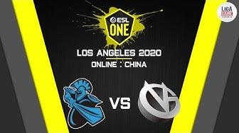 Newbee vs VICI Gaming (BO3) | ESL One Los Angeles 2020 - Online: China