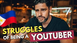 The STRUGGLES of being a YOUTUBER - MANILA Vlog