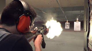 Gun Range HD 60fps: Firing 9mm Glock Handgun & AK-47 Semi-Automatic Rifle