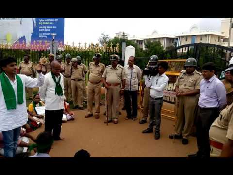 Kalsabanduri strike@gadag ,speech by youth leader sayed koppal