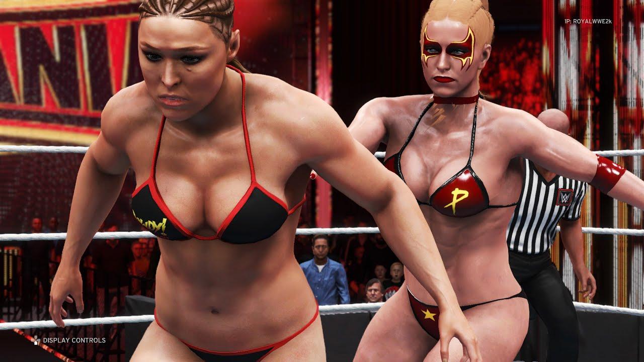 Download WWE 2K20 - Ronda Rousey vs. Russian Power - FULL MATCH - Bikini Divas Fights ❤🖤