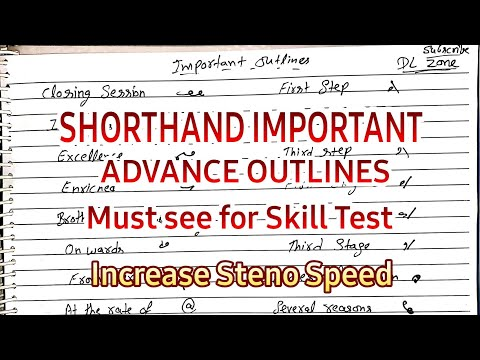 Shorthand Important Advance Outlines    DL Zone