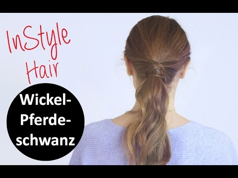 Frisuren Tutorial Elegant Gewickelter Pferdeschwanz Youtube
