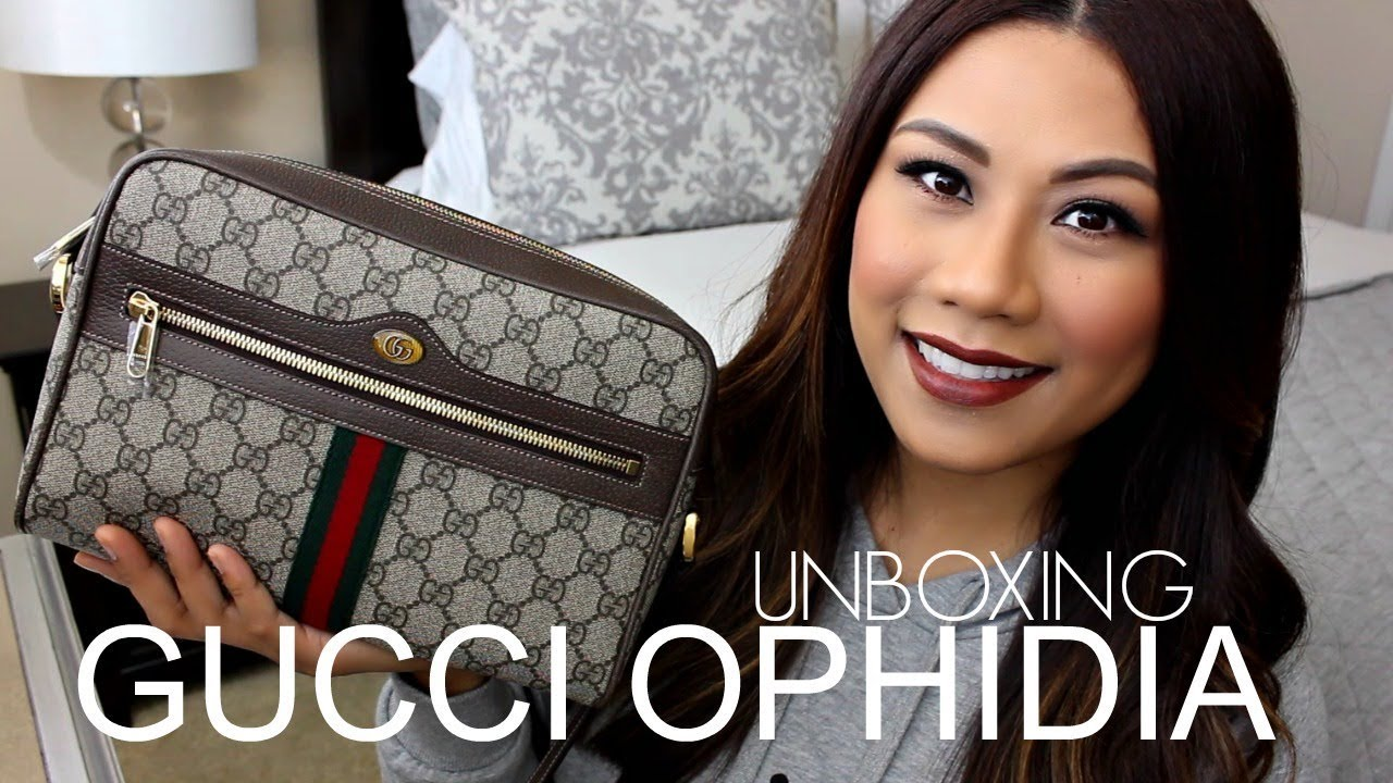 c27f102ab ♡ GUCCI OPHIDIA GG SUPREME SHOULDER BAG | UNBOXING & FIRST IMPRESSION ♡