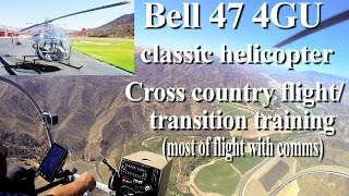 How to fly a Bell 47 (classic 60s) helicopter flight training/instruction (full flight vid-comms)