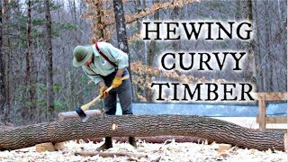 Hewing Curvy Timbers for Japanese Timber Frame