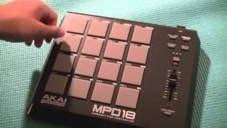 Video Akai MPD18 Compact Pad Controller First Look: download MP3, 3GP, MP4, WEBM, AVI, FLV Juni 2018