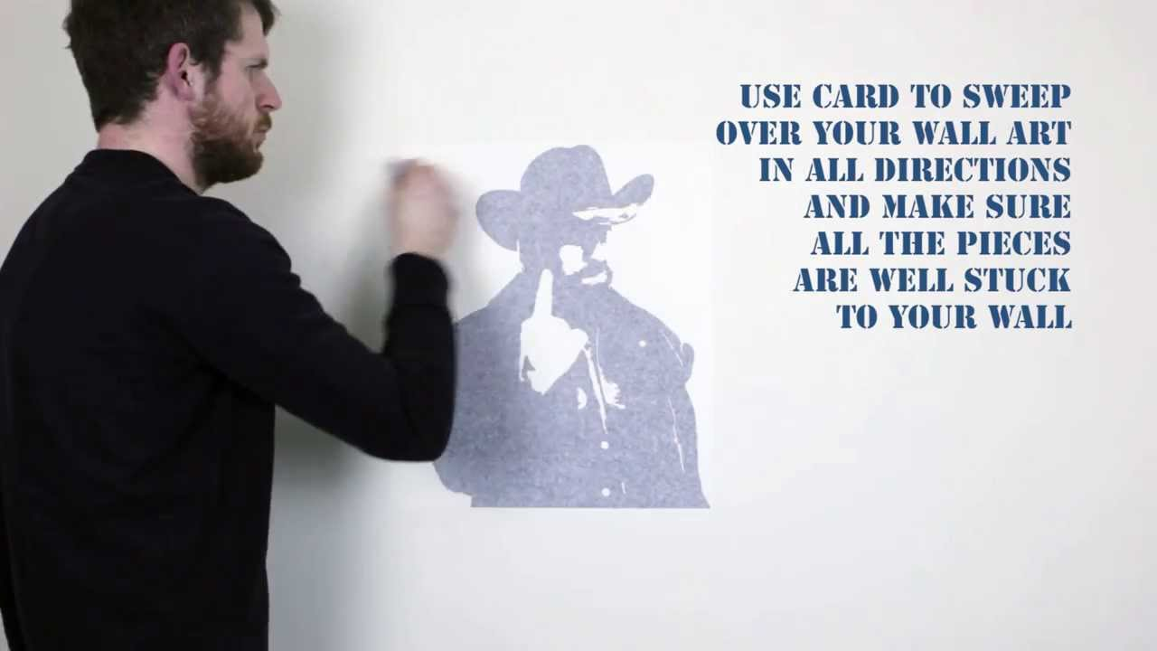 How To Apply A Vinyl Wall Art Decal Vinyl Revolution YouTube - Vinyl wall decal application