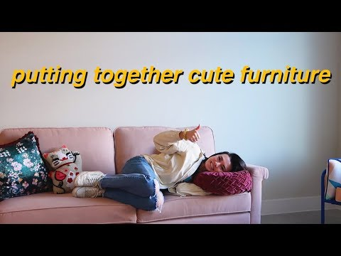 putting together cute furniture for the apartment!