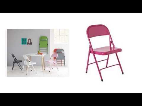 Cute Pink Metal Folding Chair