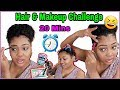 20 Minute Hair & Makeup CHALLENGE | HOW TO GET READY FAST!