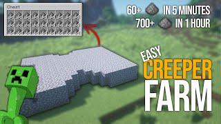 EASY Minecraft Creeper Farm | 700+ Per Hour Gunpowder Farm
