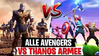 Ich spiele ALLE 4 Avengers gegen Thanos!| Endgame LTM Fortnite Battle Royale
