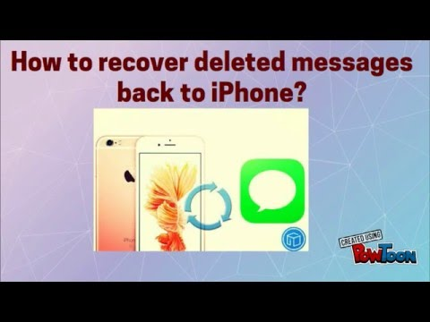 recover deleted texts iphone how to recover deleted messages back to iphone 15946
