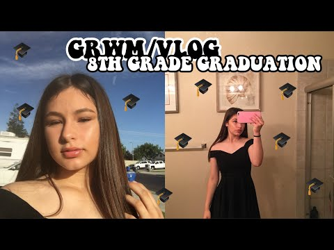 8TH GRADE GRADUATION GRWM/VLOG 2018