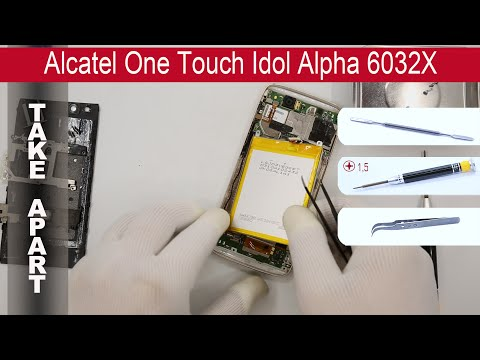 How to disassemble 📱 Alcatel One Touch Idol Alpha 6032X, Take Apart, Tutorial