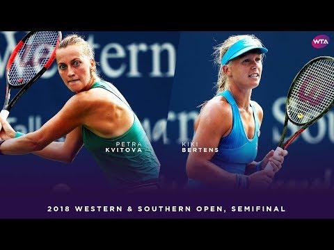 Petra Kvitova vs. Kiki Bertens | 2018 Western & Southern Open Semifinal | WTA Highlights