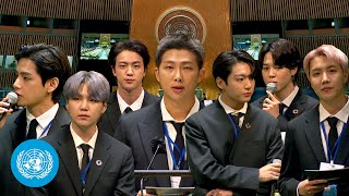 President Moon Jae-in \u0026 BTS at the Sustainable Development Goals Moment | United Nations (English)