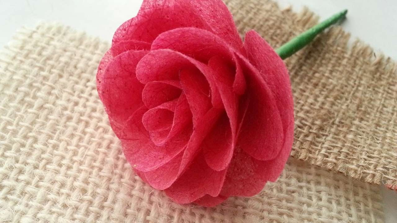How To Create Mulberry Paper Rose Diy Crafts Tutorial
