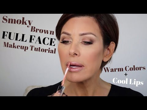Smoky Brown Full Face Makeup Tutorial   Dominique Sachse