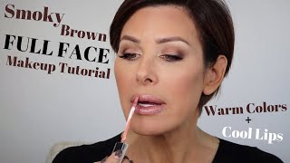 Smoky Brown Full Face Makeup Tutorial | Dominique Sachse