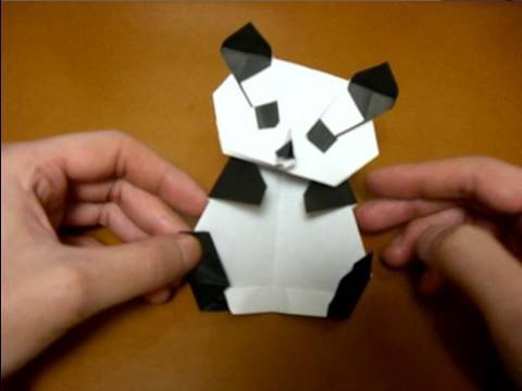 origami panda body youtube