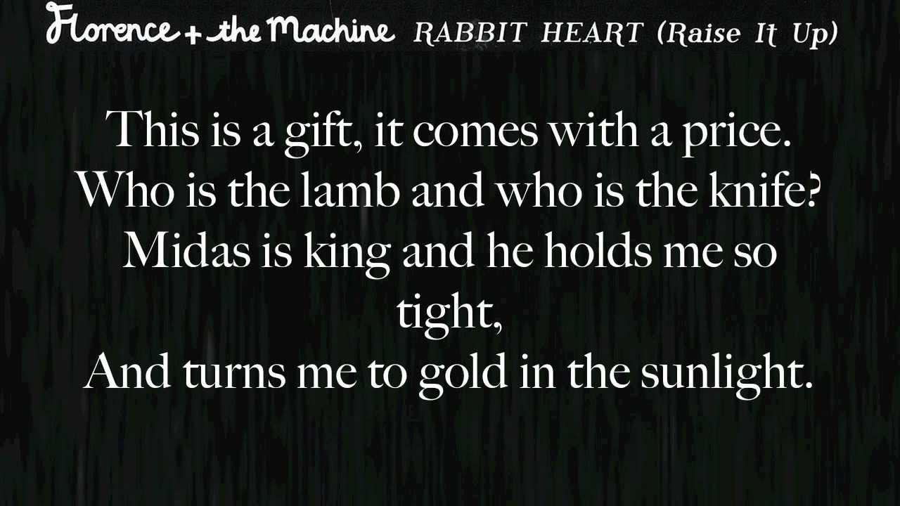 rabbit florence and the machine lyrics
