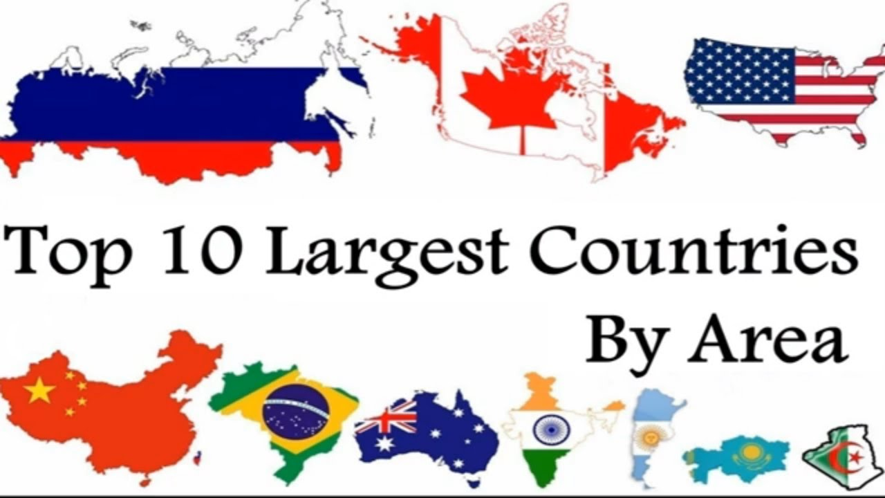 Top 10 Largest Countries In The World By Area - YouTube