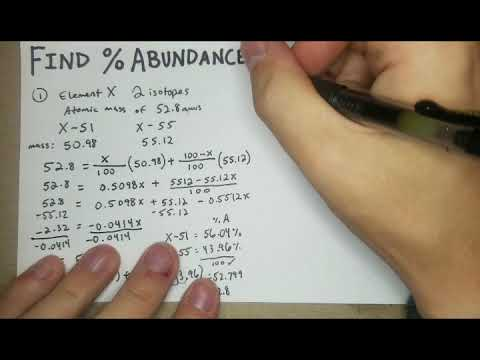 How To Find Percent Abundance Of Each Isotope (General Chemistry I)