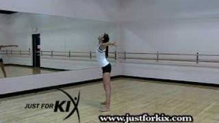 C Jump Dance Instruction Tutorial and Demonstration from Just For Kix