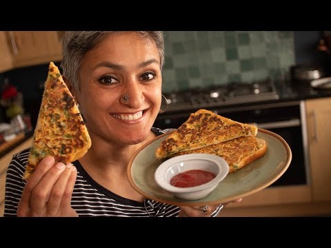 gram-flour-masala-toast-|-food-with-chetna