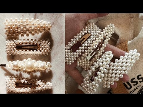 DIY pearl hair clips and barrettes