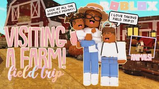 VISITING A FARM WITH MY KIDS! *Field Trip* Roblox Bloxburg Roleplay