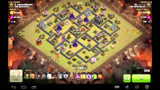 TH9 VS TH9 Queen walk , 1 Golem GOWIVA and Hog rush @げんてるさん