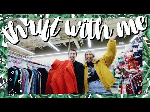 Come Thrift With Me | BOYFRIEND THRIFTS MY OUTFITS FOR UNDER $25 THRIFT CHALLENGE