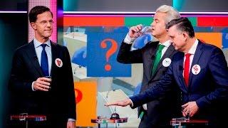 Stropdassen (Rutte, Wilders en Roemer) winnen quiz