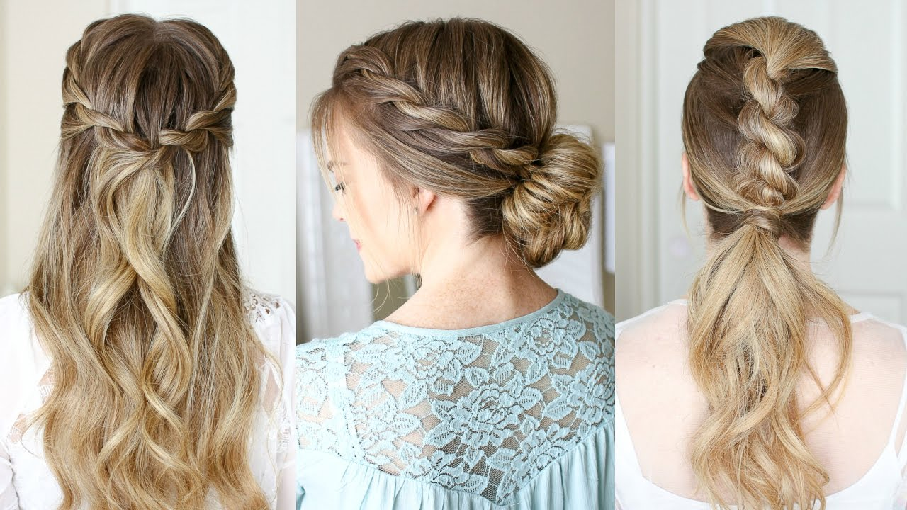 3 Easy Rope Braid Hairstyles | Missy Sue - YouTube