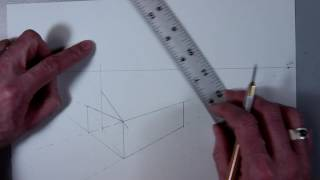 How to draw: Two Point Perspective House with Garage (Part 2)