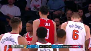 ZHOU QI CROSSES PORZINGOD! Zhou Qi Highlights vs Knicks (01.11.17)