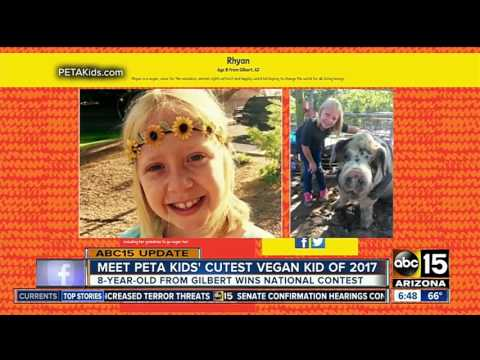 Gilbert girl wins PETA 'cutest vegan kid' contest