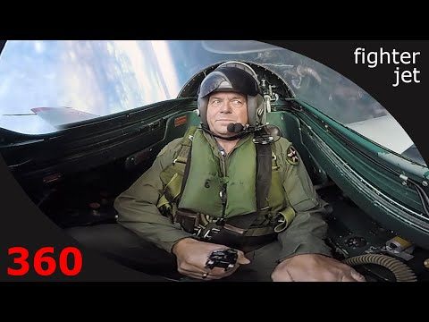 360° cockpit view | Passenger flying a military jet
