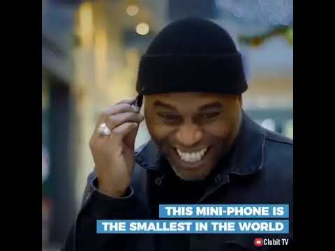 You won't believe how tiny this miniature mobile phone is.