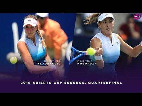 Kristina Mladenovic vs. Garbiñe Muguruza | 2019 Monterrey Open Quarterfinal | WTA Highlights
