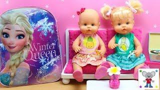Preparo MOCHILA de FROZEN Bebés Nenuco HERMANITAS TRAVIESAS para Tarde de Chicas Maquillaje Peinados